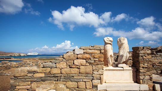 Ruines de la maison de Cléopâtre à Délos.