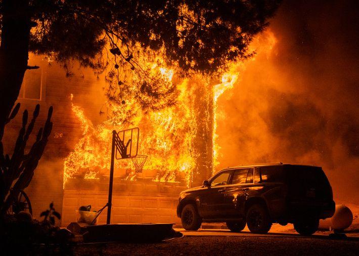À midi le 8 septembre, le Valley Fire était circonscrit à 3 % et avait consumé environ 7 019 hectares ...