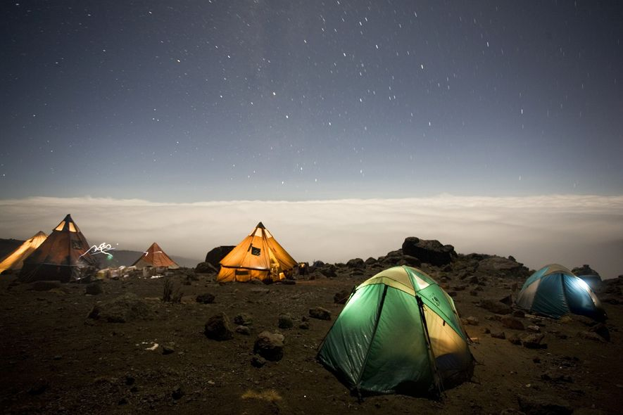 La plupart des campings offrent des vues splendides, mais votre corps vous sera reconnaissant de passer ...