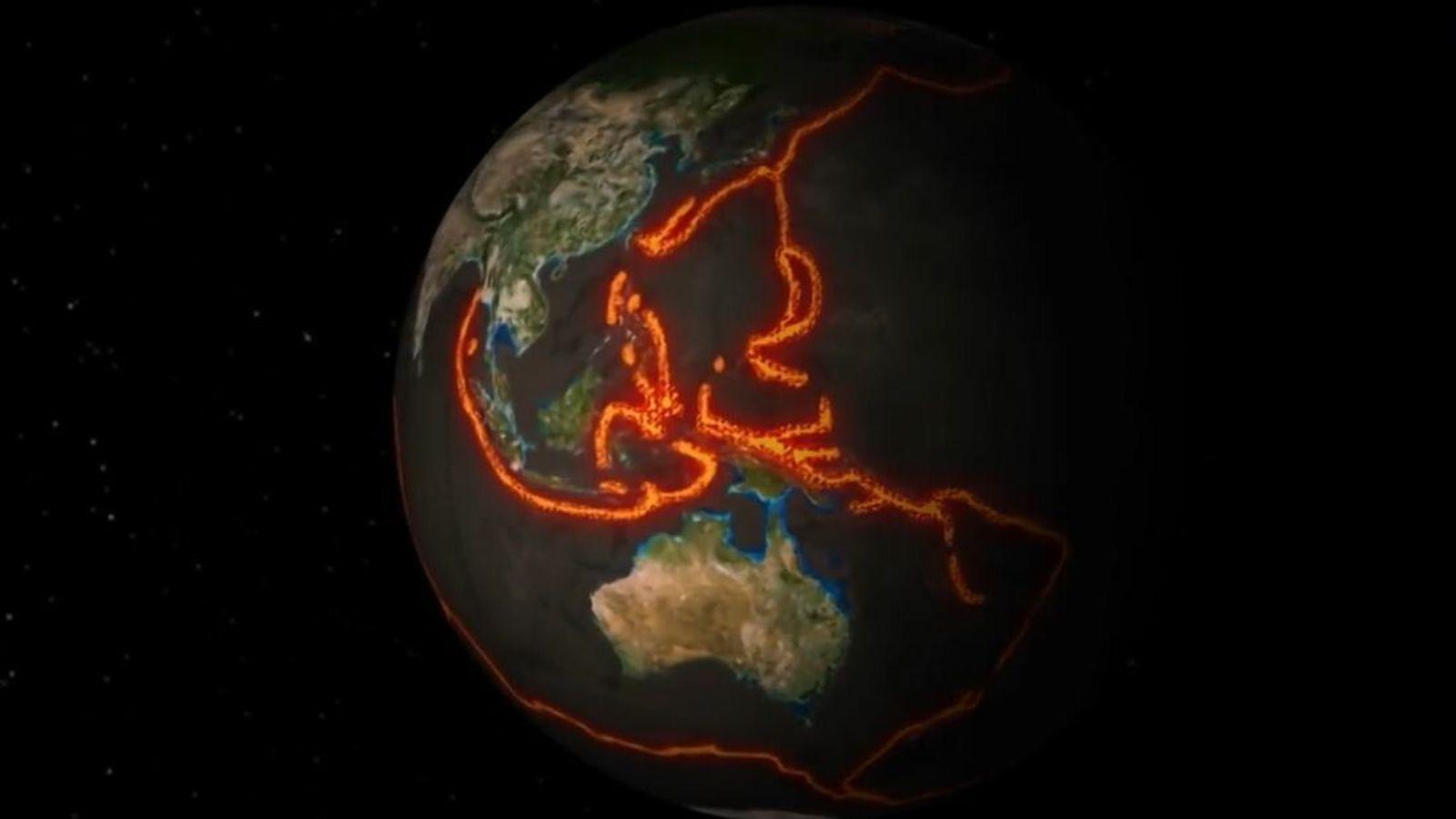 Tectonique des plaques.