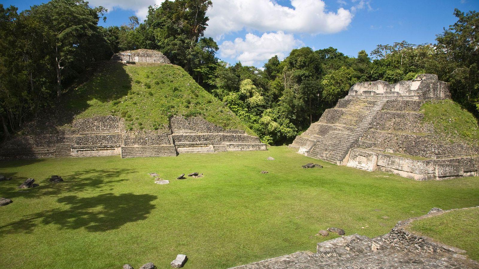 La plupart des édifices de Caracol ont été mis au jour et stabilisés et les visiteurs ...