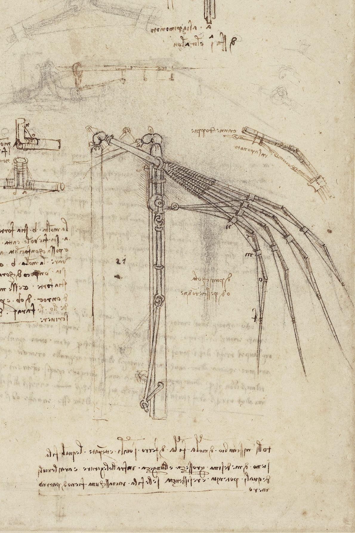 Fasciné par les principes d'ingénierie, Léonard a conçu des plans pour des ponts, des bâtiments et ...