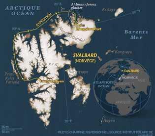 Carte de l'expédition.