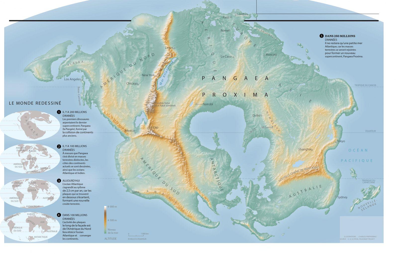 La tectonique des plaques fait rétrécir ou agrandir les océans, soulève des chaînes de montagnes et ...