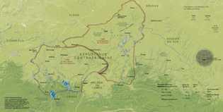 Carte de Centrafrique publiée dans le magazine National Geographic n°212 (mai 2017).