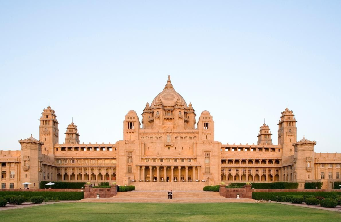JODHPUR, INDE - Umaid Bhawan, ancienne résidence de la famille royale de Jodhpur, est la sixième ...