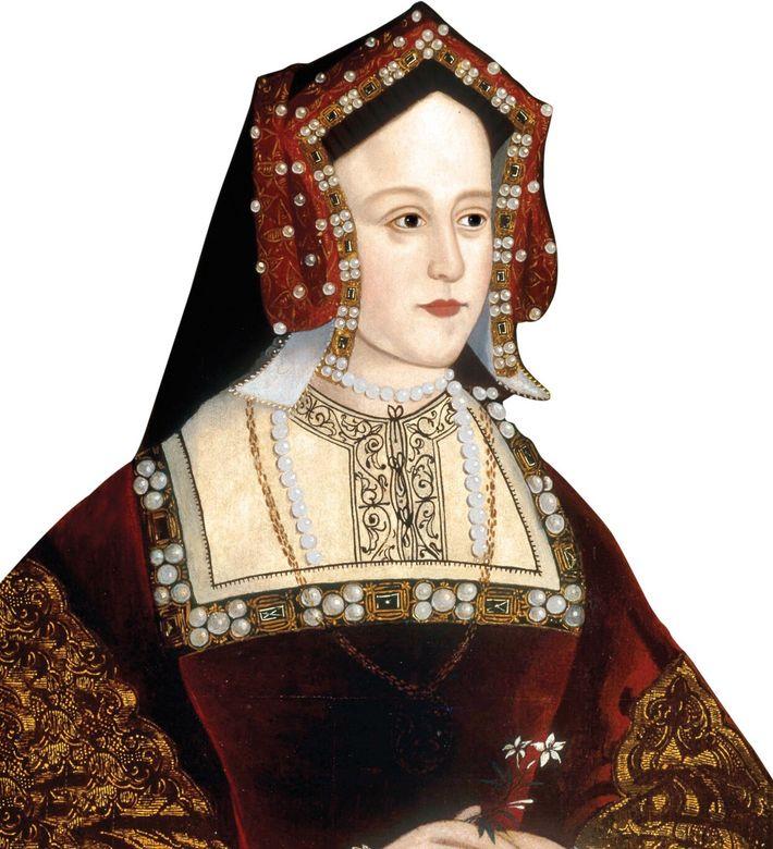 Anne portait les bijoux de la reine avant même d'être couronnée, les prenant à la reine ...