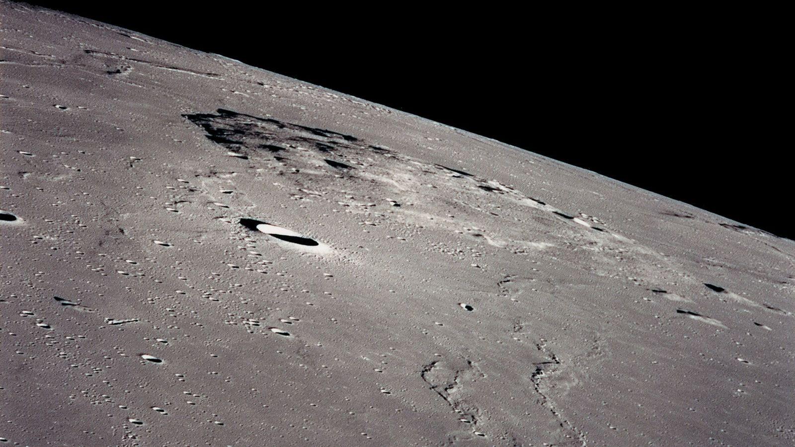Chang'e-5, la sonde spatiale chinoise, atterrira près du Mons Rümker, un massif volcanique dans la région nord-ouest ...