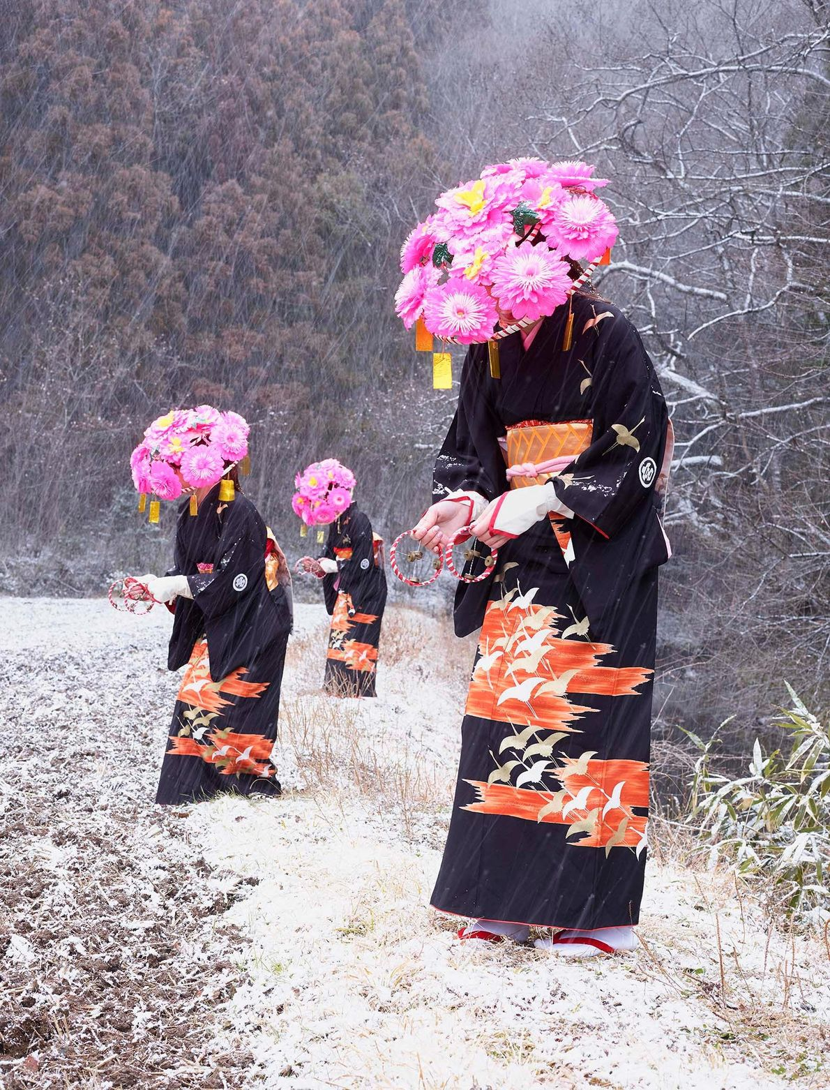 Femmes en kimonos