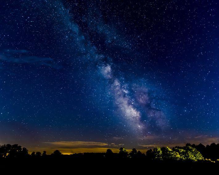 En Pennsylvanie, le parc d'État de Cherry Springs organise de temps à autre des soirées dédiées ...