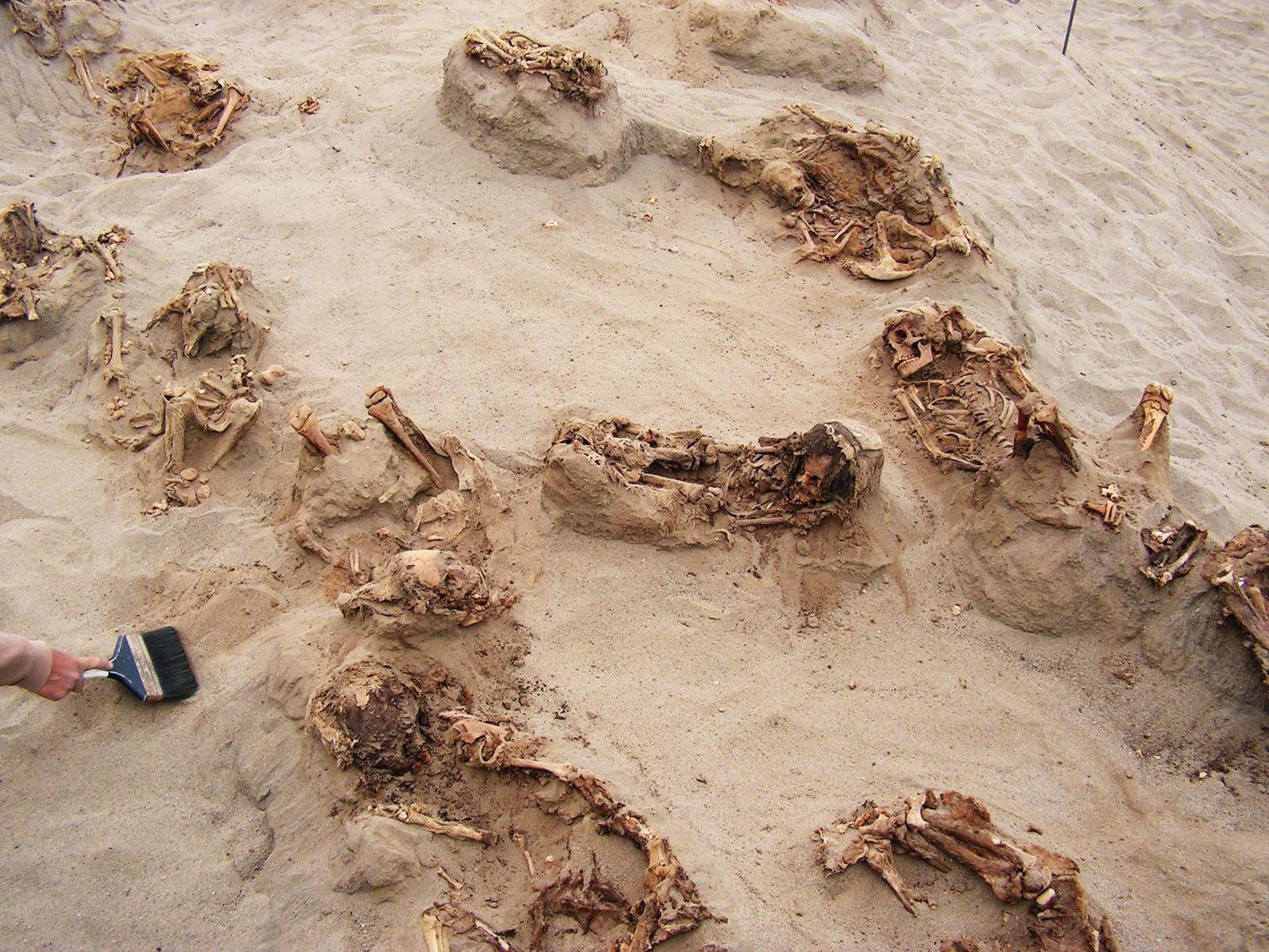 Conservés dans le sable sec pendant plus de 500 ans, plus d'une douzaine d'enfants ont été ...