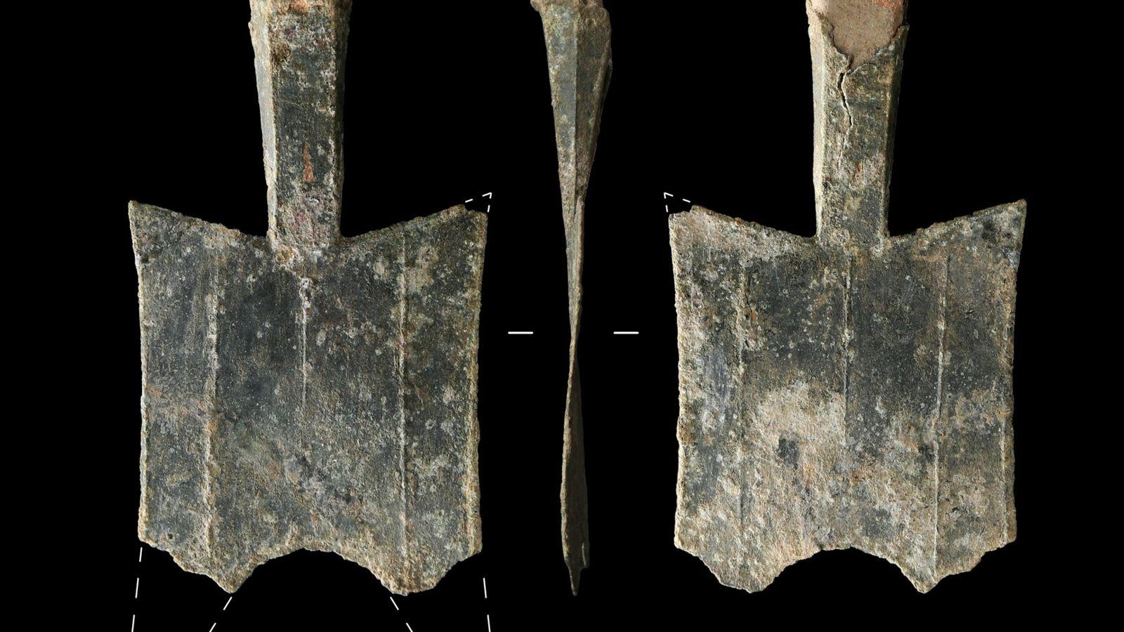 Mis au jour sur le site d'une ancienne fonderie de bronze dans la province chinoise du ...