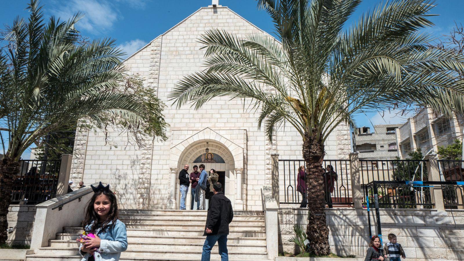 Lors des grandes célébrations religieuses, les églises de la bande de Gaza sont protégées par la ...