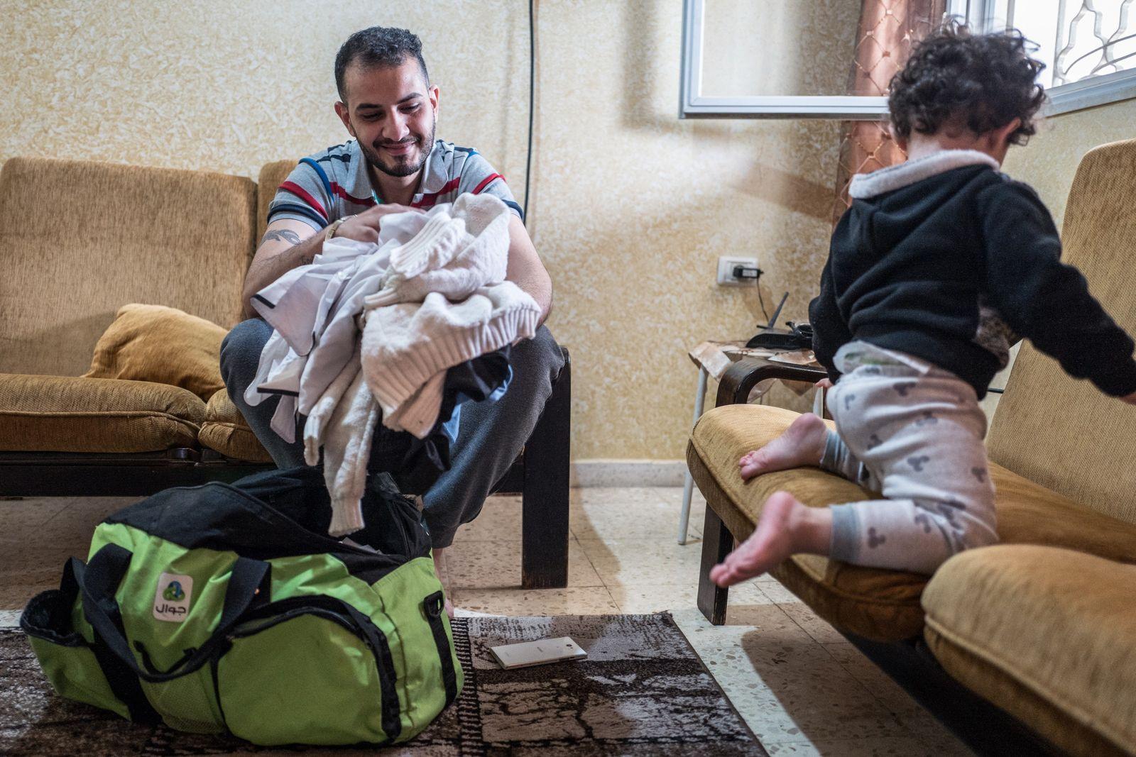 Jawdatt a rejoint Joney, son frère, parti de Gaza en 2017 avec sa femme et son ...