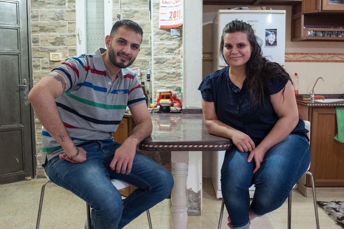 Joney et Dalia Michael attendent depuis bientôt deux ans la visite de leurs familles respectives pour ...