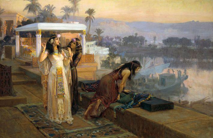 Cléopâtre se prépare à quitter l'île de Philae dans ce tableau de l'artiste du XIXe siècle ...