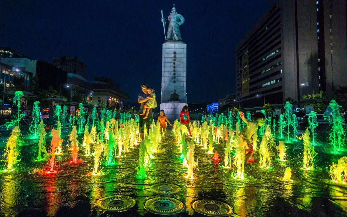 La place de Gwanghwamun à Séoul, en Corée du Sud.
