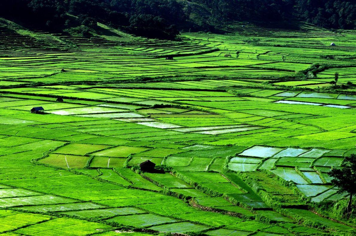 Jowai, dans l'État de Meghalaya, en Inde.