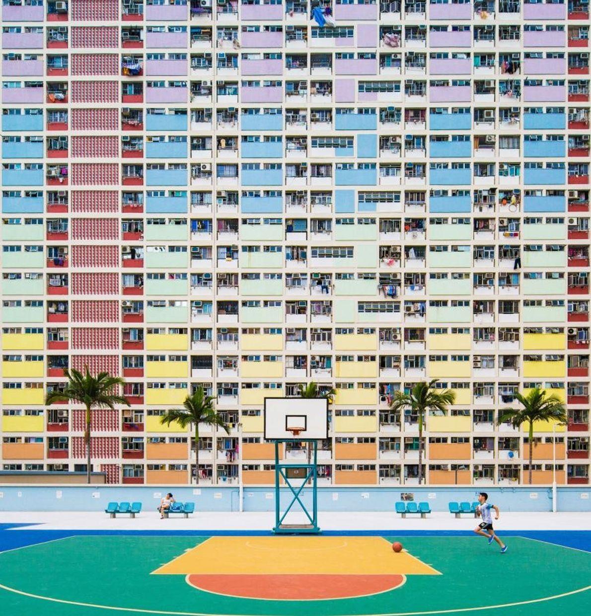 Le quartier de Kwun Tong à Hong Kong.