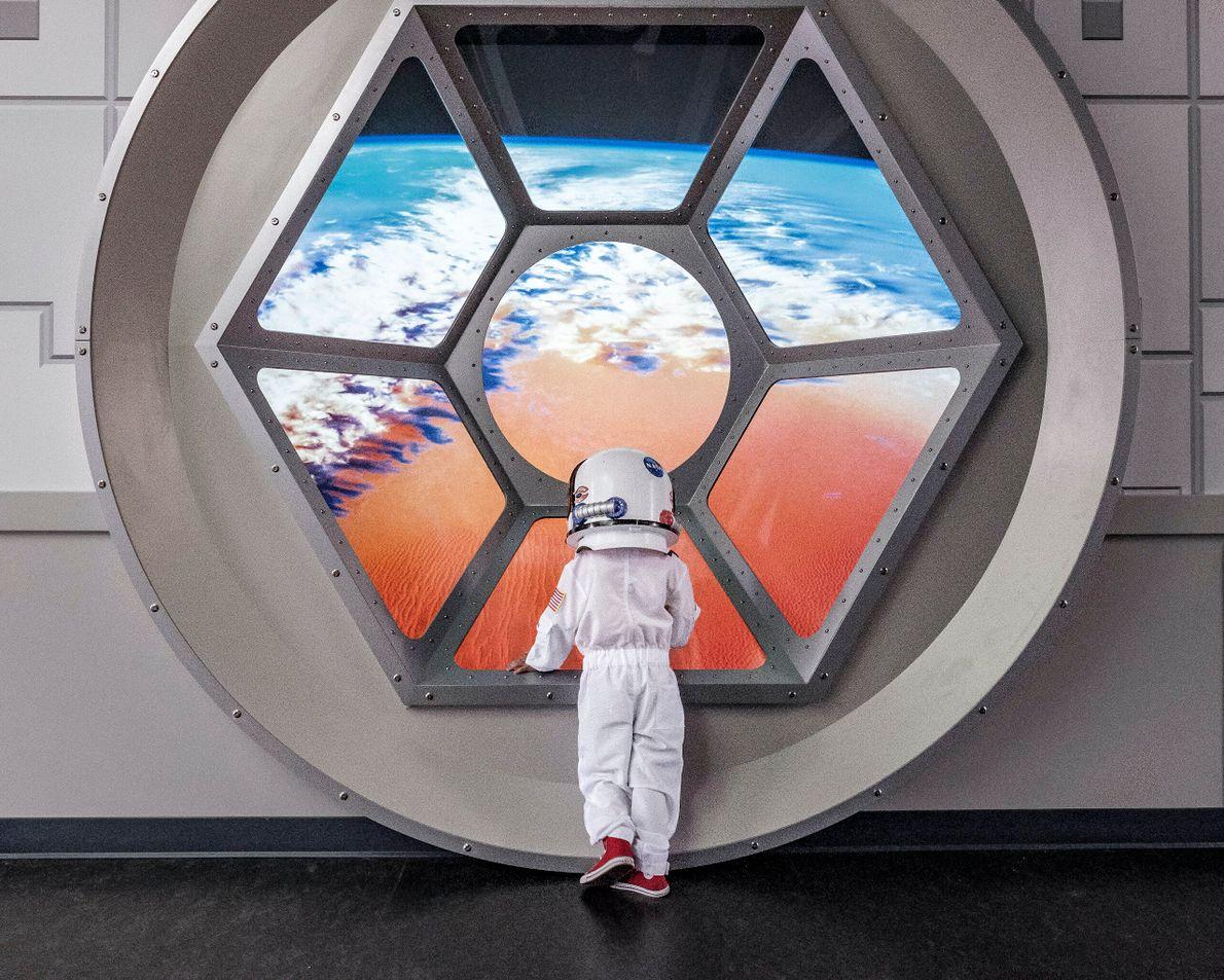 La Côte de l'Espace, États-Unis . Le complexe touristique du centre spatial Kennedy initie petits et grands à ...
