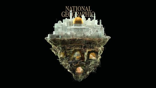 Illustration issue du numéro 243 du magazine National Geographic : Jérusalem Secrète.