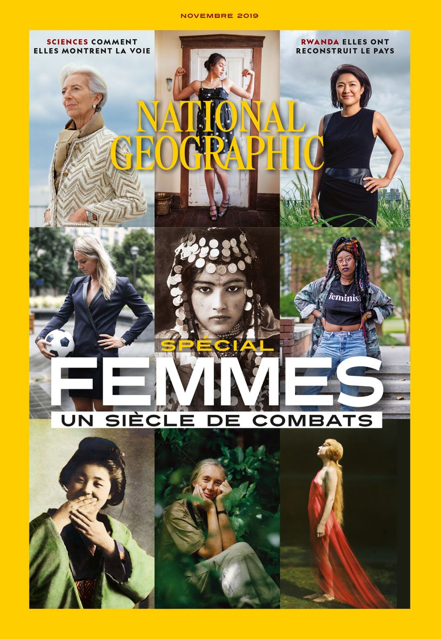 Magazine National Geographic de novembre 2019 : spécial femmes, un siècle de combats
