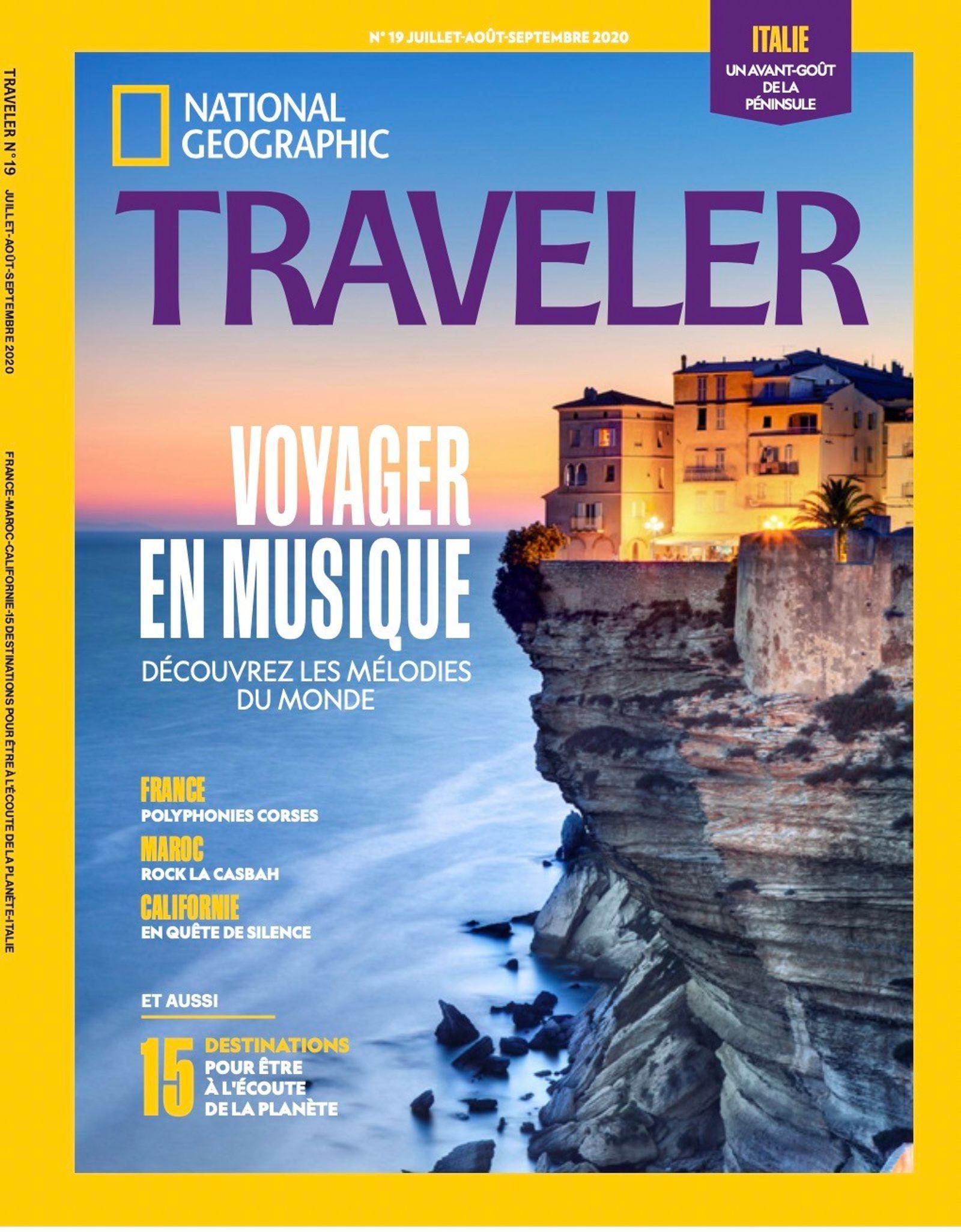 Sommaire du magazine Traveler n° 19 : Voyager en musique