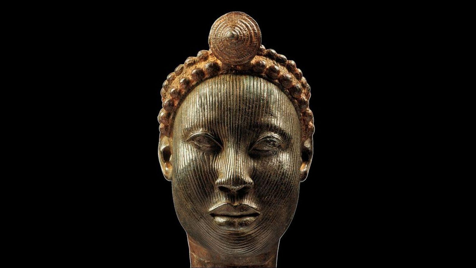 Les têtes d'Ife, chefs-d'œuvre de l'art nigérian.