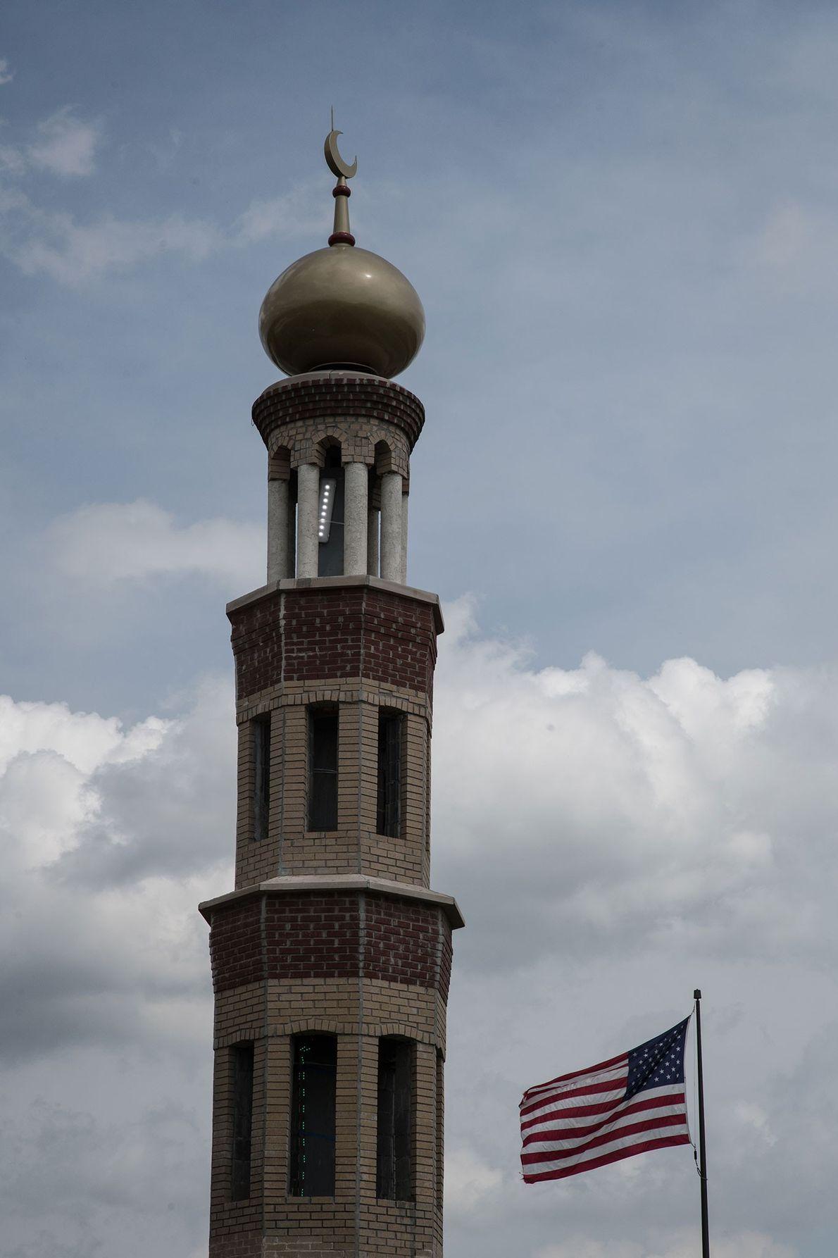 La mosquée Dar Al Jalal à Hazelwood dans le Missouri est fermée depuis des semaines en ...