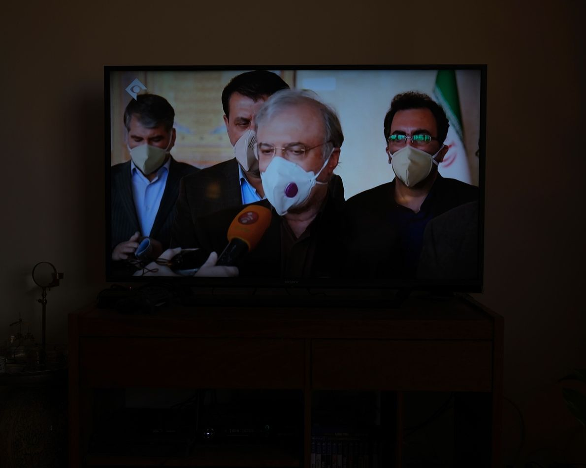 Le ministre iranien de la Santé annonce le nombre de personnes mortes et infectées chaque jour ...
