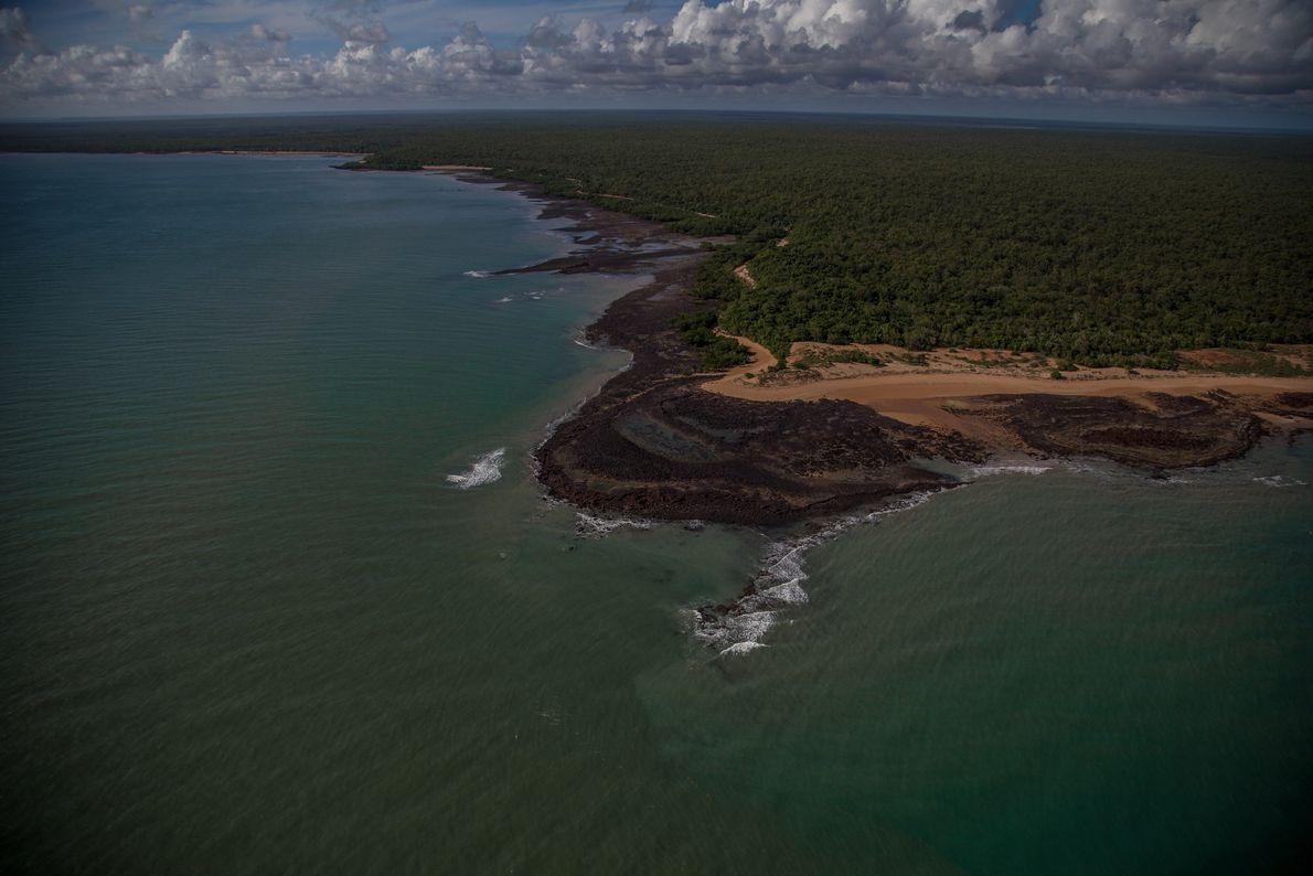 Un littoral typique du Territoire du Nord de l'Australie.