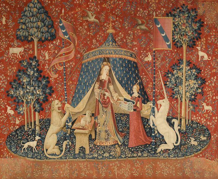 La Dame à la licorne, A mon seul désir, l'une des six tapisseries qui composent la ...