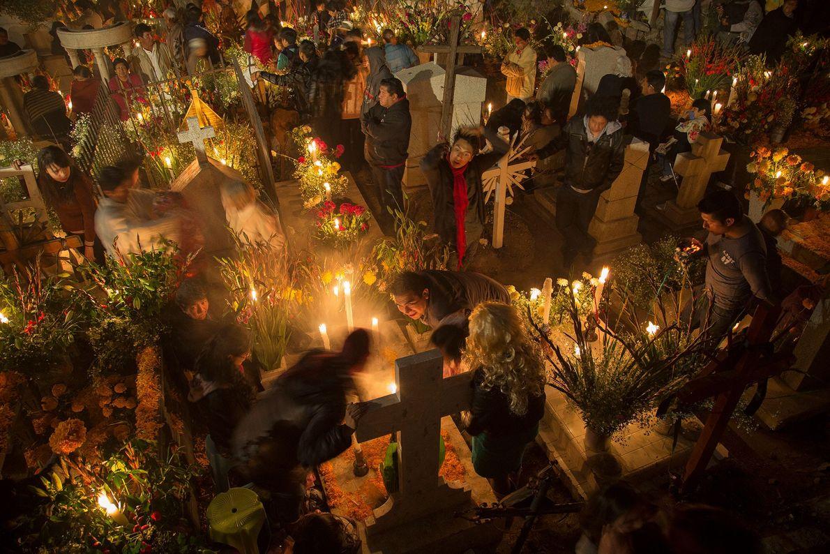 La communauté de San Andres Mixquic est célèbre pour la grandeur des festivités qui s'y déroulent ...