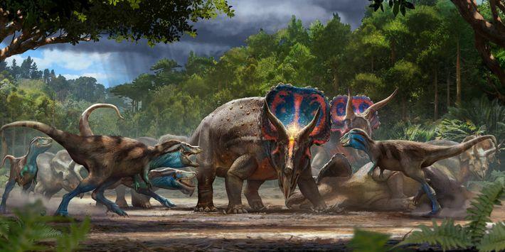 Le fossile des Dinosaures se battant en duel est peut-être le résultat d'une lutte mortelle entre ...