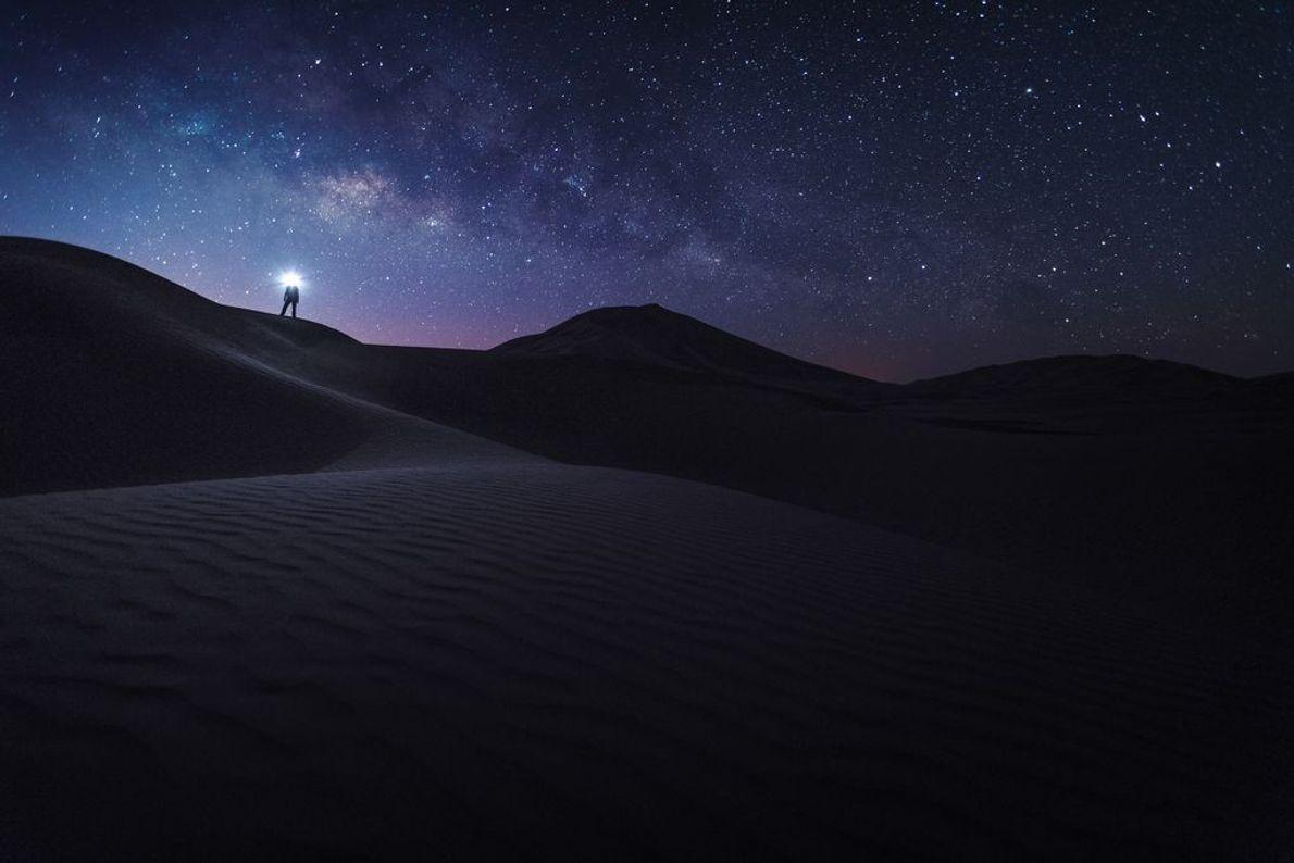 « Nous étions en train d'errer dans les dunes de sable, en quête d'un cadre parfait ...