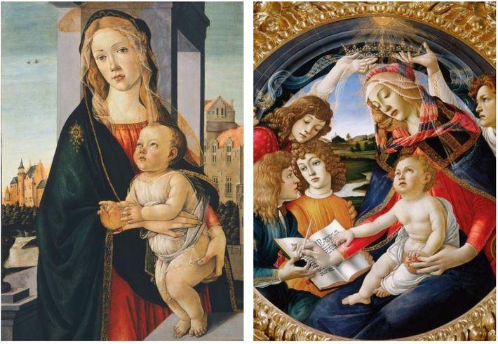 La Vierge à l'enfant était un sujet populaire pour Botticelli depuis le début de sa carrière. Le plus ...