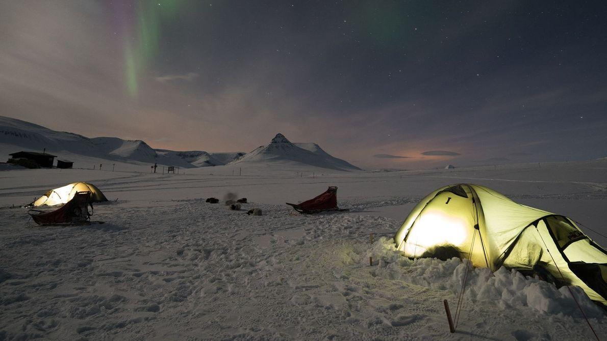 « Cette photo a été prise au cours d'une expédition de cinq jours en traîneau à ...