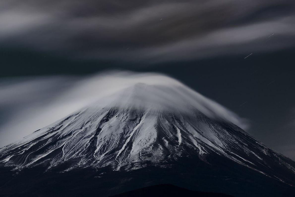 C'est l'un des nombreux visages hivernaux du Mont  Fuji. C'est merveilleux !