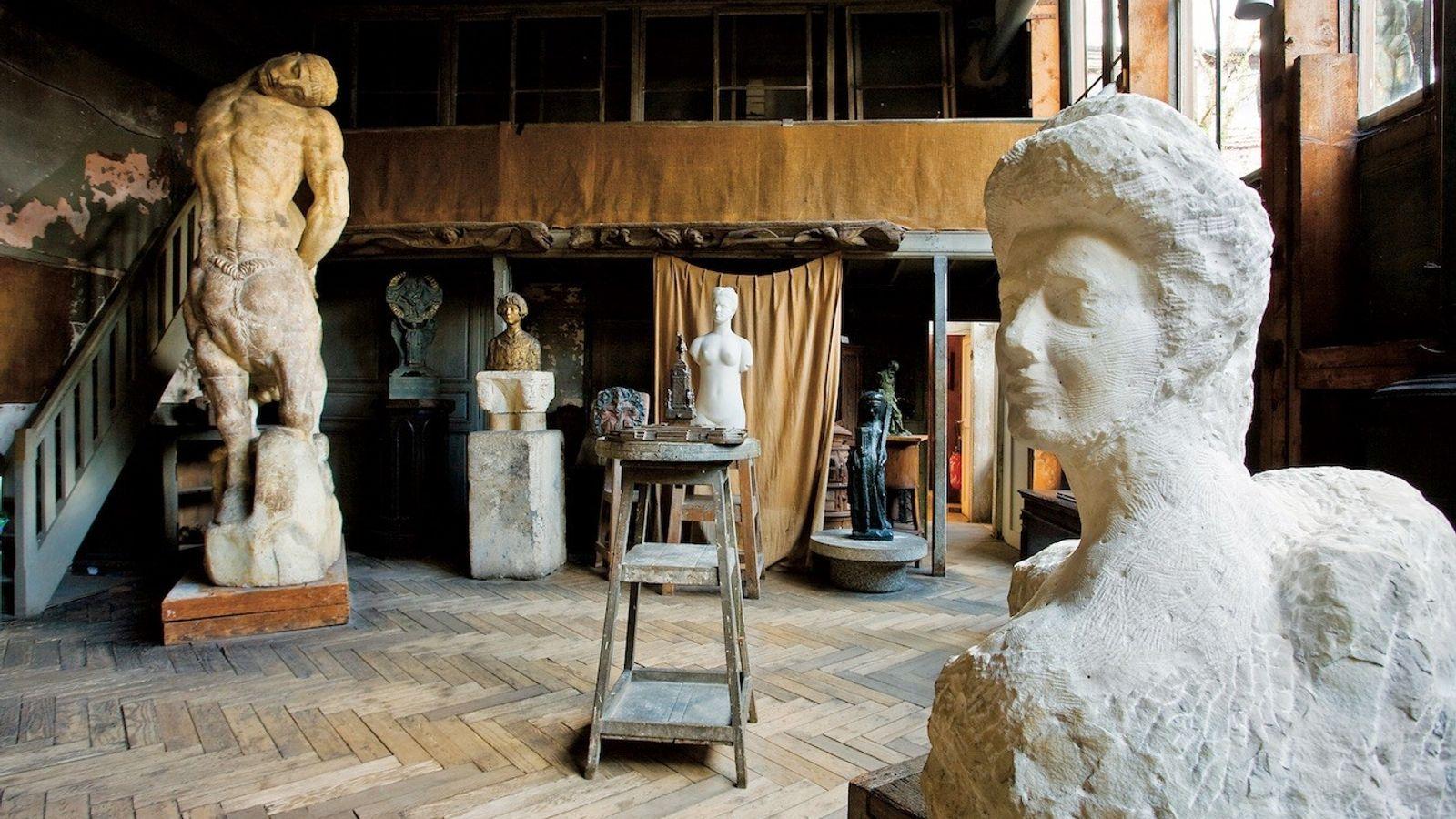 Inside Musée Bourdelle, the former studio of sculptor Antoine Bourdelle.