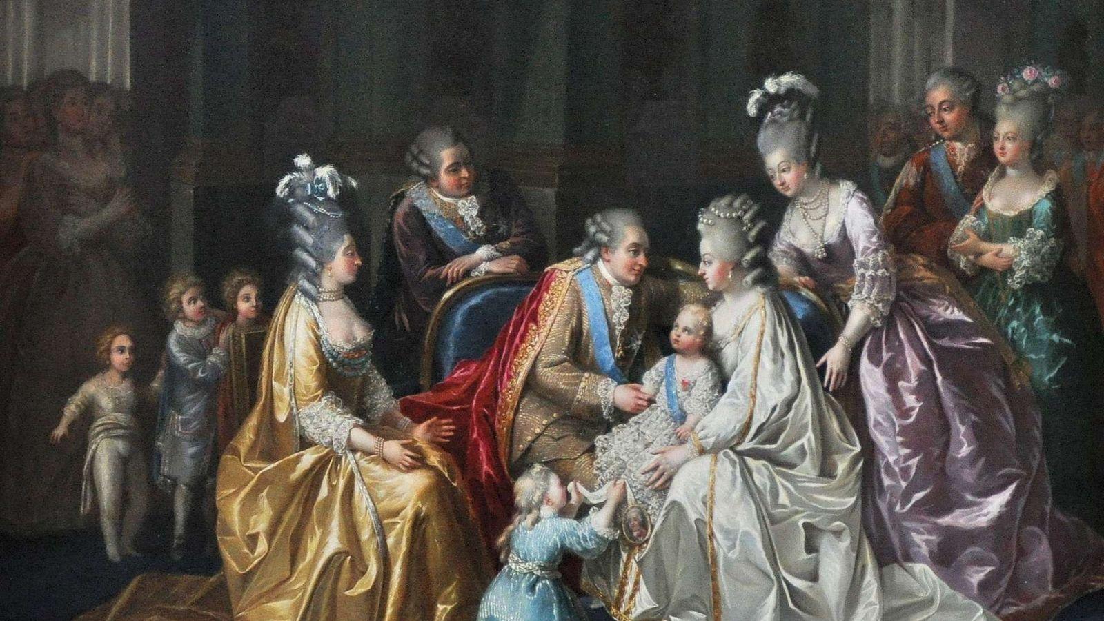 La famille royale réunie autour du dauphin Louis-Joseph-Xavier-François en 1782.