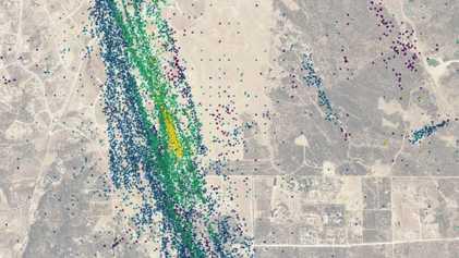 22 000 micro-séismes ont été enregistrés en Californie entre 2016 à 2019