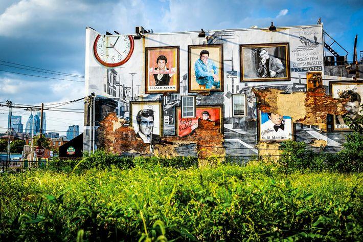 Une peinture murale dans East Passyunk, un quartier de South Philly, longtemps un bastion de la ...