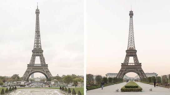 La Tour Eiffel (à gauche) est l'un des monuments les plus iconiques de Paris. La deuxième ...
