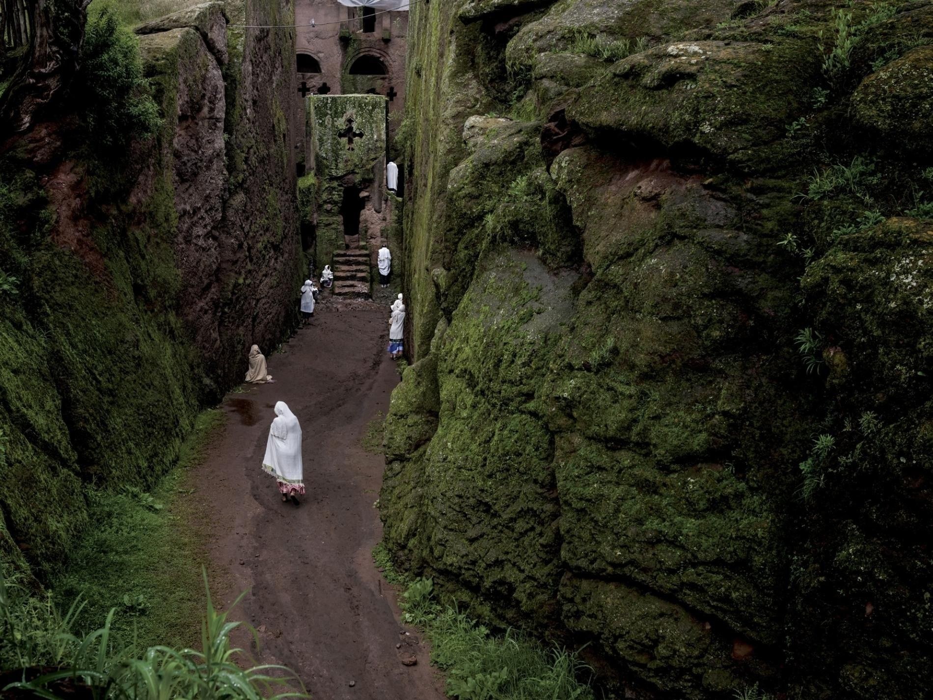 Les hautes terres du nord de l'Éthiopie sont réputées pour leurs magnifiques églises taillées dans la ...