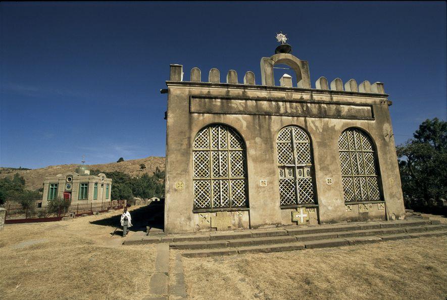 À Axoum, non loin de l'église Sainte-Marie de Sion se trouve la modeste Chapelle de la ...