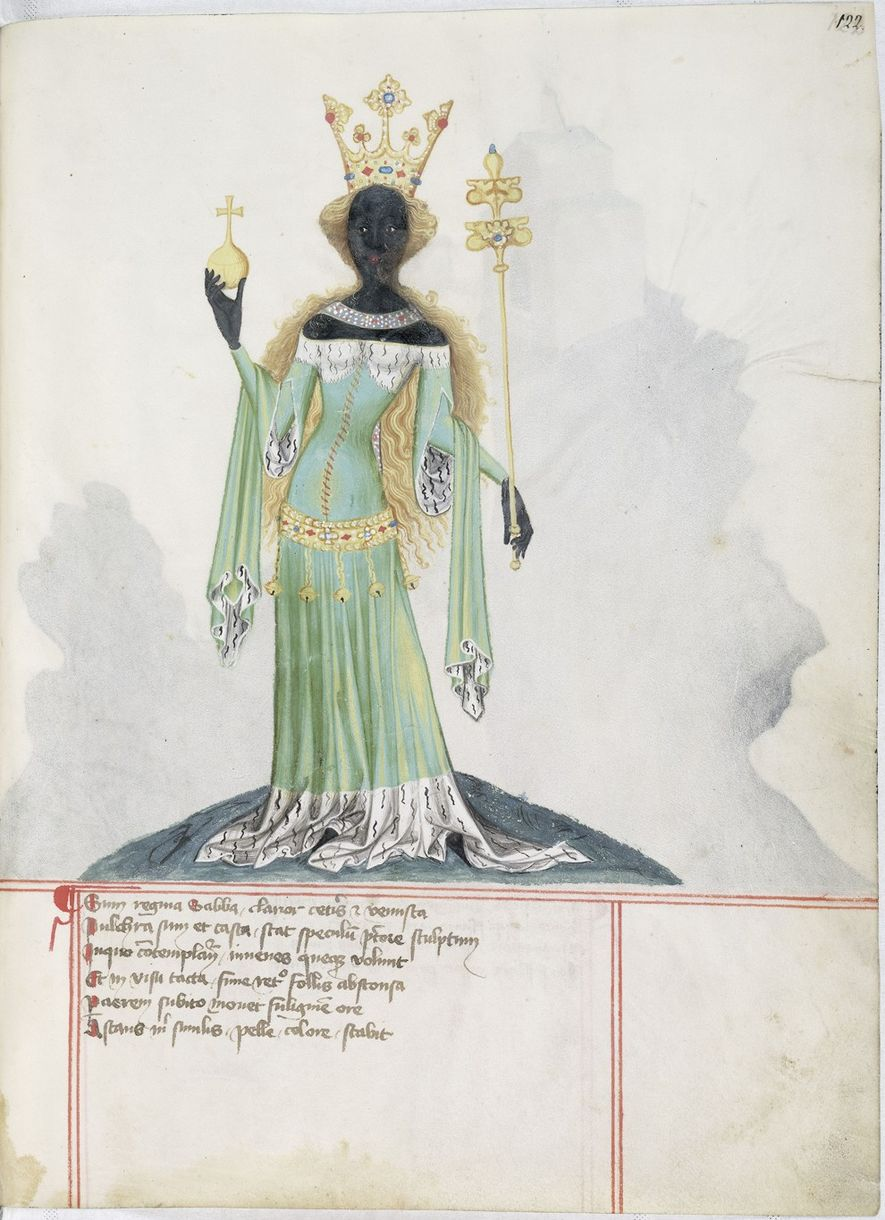Représentation médiévale allemande de la Reine de Saba.