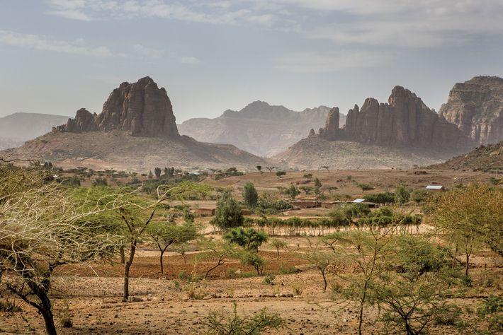 Selon la légende, la Reine de Saba aurait régné sur cette région du nord de l'Éthiopie, ...