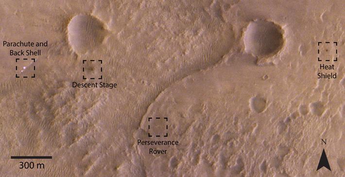 Récemment, CaSSIS permettait d'obtenir des images du site d'atterrissage de Perseverance.