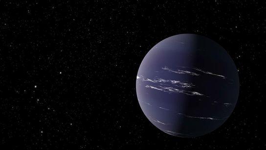 Vue d'artiste de TOI-1231 b, une planète semblable à Neptune à environ 90 années-lumière de la ...