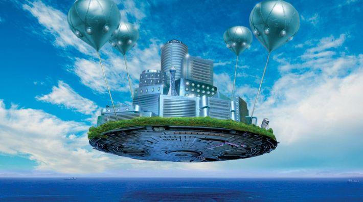 Des ballons à hydrogène suspendent les habitants de  Singapour au-dessus de la mer. Cette ville ...